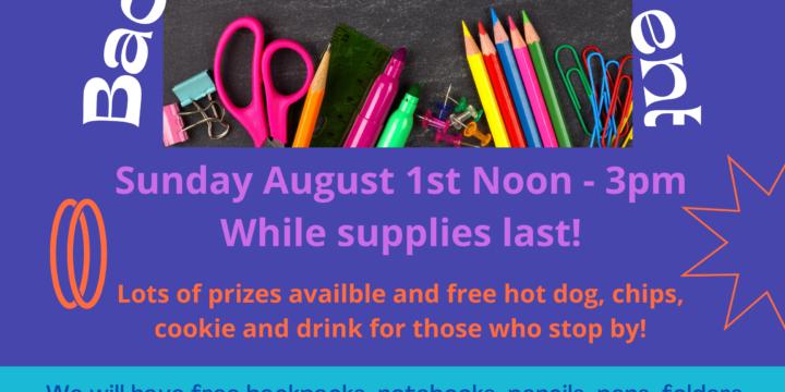 School Supplies Giveaway Event!